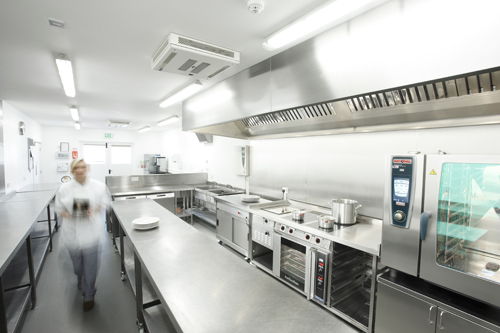 Image of a commercial kitchen equipment installation