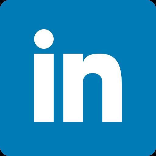 Image of Linkedin logo and website link
