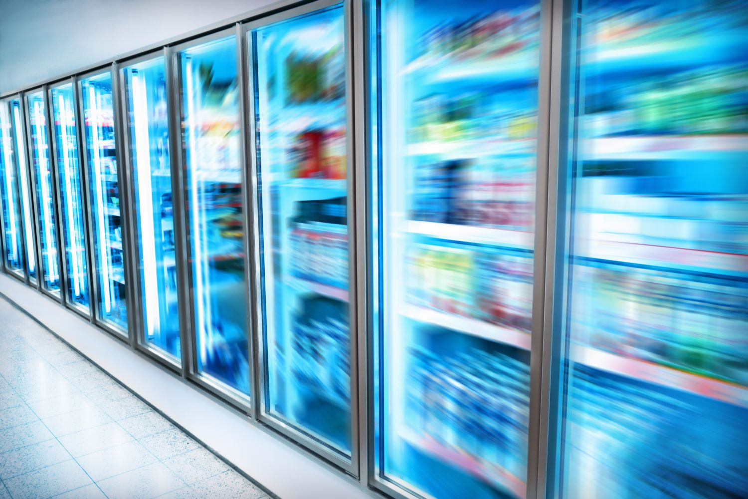 Image of refrigeration units in a commercial environement