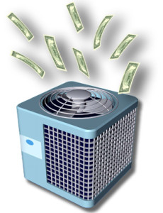 air conditioner shooting money out the top
