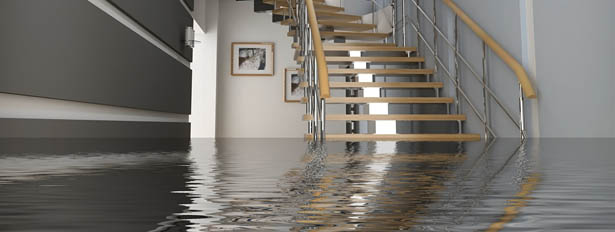 Image of a flooded basement - possible sump pump failure