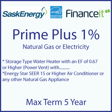 Image of Prime Plus 1% Financing, 5 year term maximum with website link
