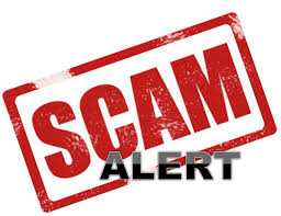 graphic text of scam alert