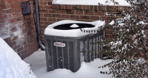 air conditioner in snow