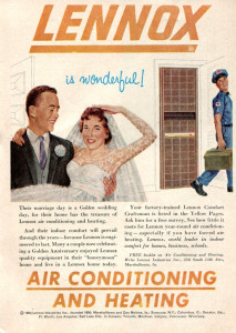 vintage Lennox add from the 1950s