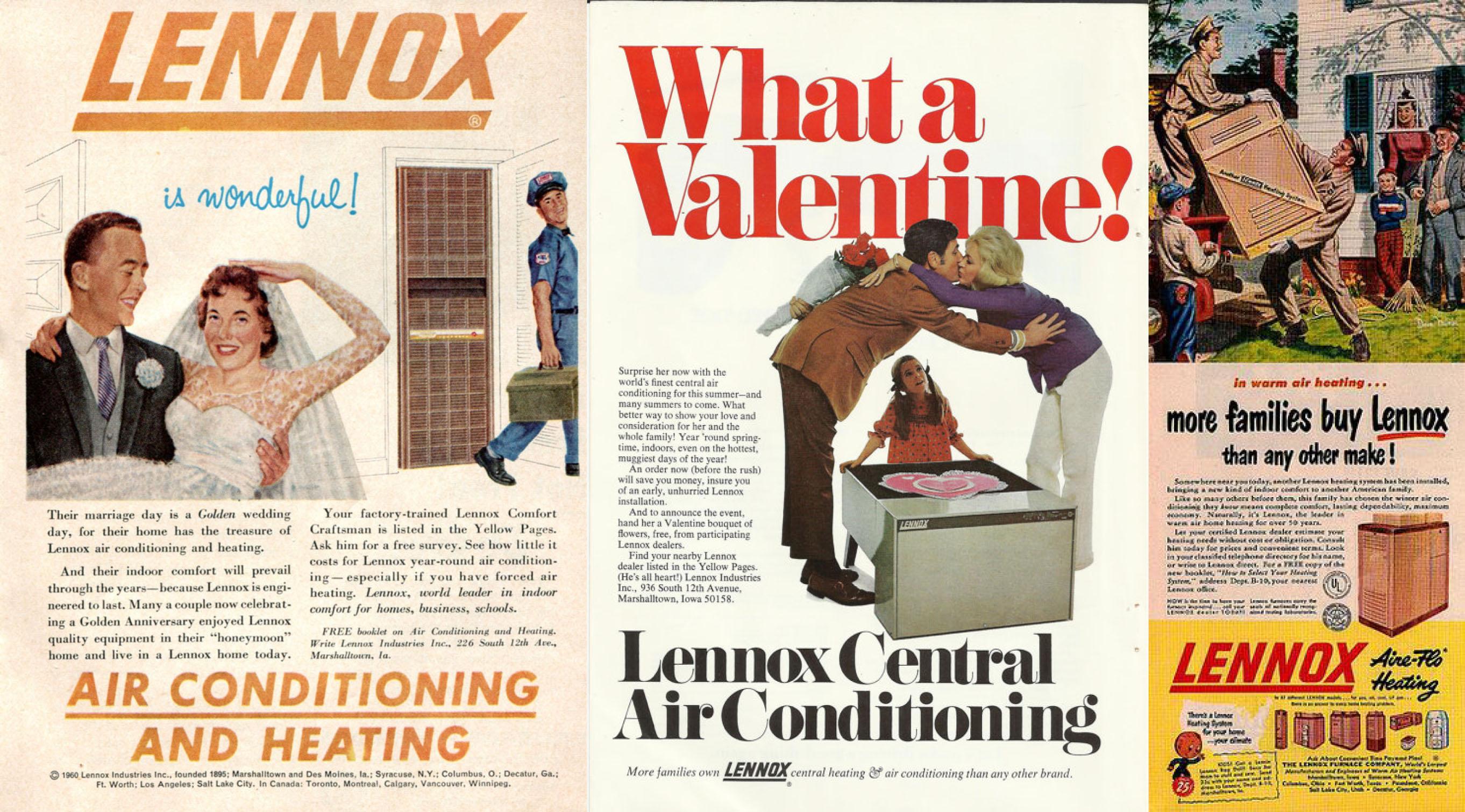 lennox ads vintage