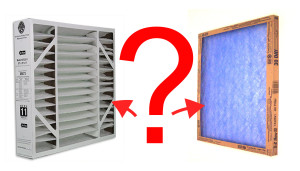furnace filters with a question mark