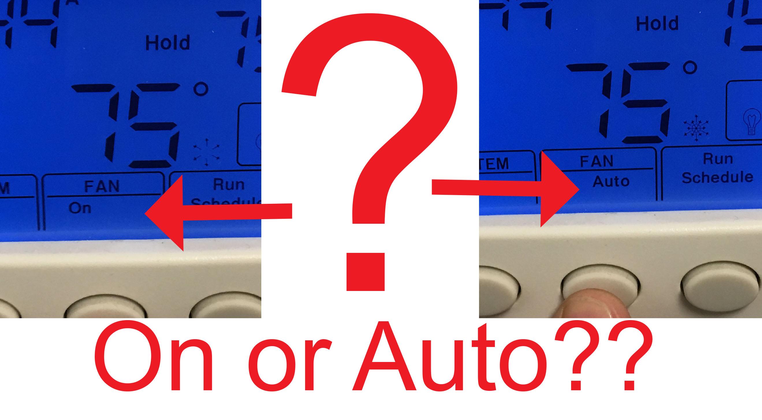 furnace fan on or auto diagram