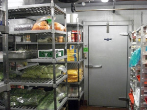 walk in cooler with freezer