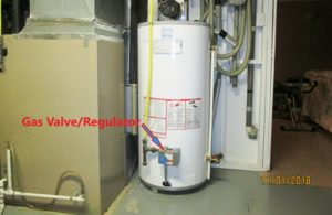 Image of Water Heater gas valve and regulator