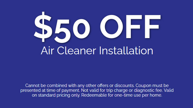 Discount on Air Cleaner Installation