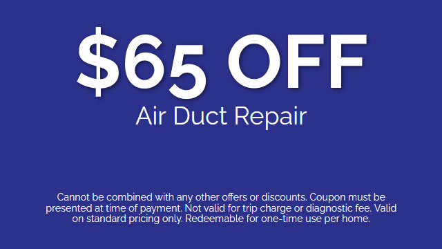 Discount on Air Duct Repair