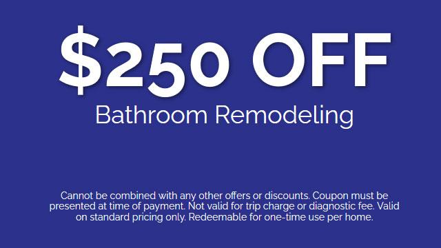 Discount on Bathroom Remodeling