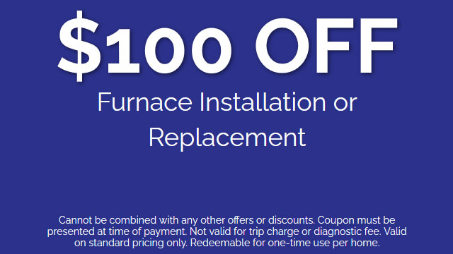 Discount on Furnace Installation or Replacement