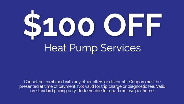 Discount on Heat Pump Services