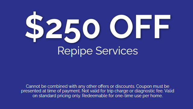 Discount on Repipe Services